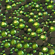Assortment strass GREEN glass hotfix s06 + s10 + s16 + s20 n°(128)