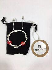 26 Main Street - Adjustable Skull and Charm Macrame Bracelet