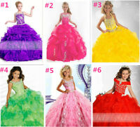 All new Girl's beaded pageant Dress,ball gown/ Prom Party/formal Dresses