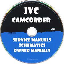 JVC Camcorder Repair Service Manuals & Schematics PDFs manuals on DVD Huge Set