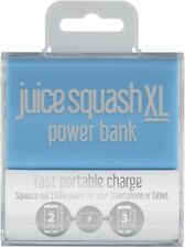 Juice Squash XL Power Bank Fast Mini Portable Battery Charger 5600mAh In Aqua