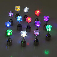 Unisex Cool Light Up Led Blinking Earrings Studs Dance Party For Party/Xmas Club