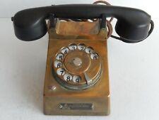 Seltenes altes Telefon mit Messing Gehäuse.