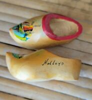 Vintage  Wooden mini Shoes Clogs Hand Painted Dutch Windmill made in Holland