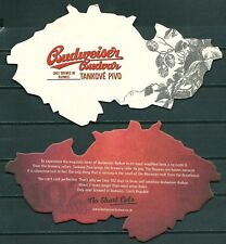 BUDWEISER BUDVAR CZECH BEER, BEERMAT / COASTER FROM U.K. SLIGHTLY USED -GV 1017