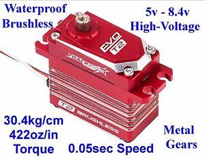 EVO T2 BRUSHLESS WATERPROOF HIGH-TORQUE-SPEED MG HV 1/8 1/10 4WD RC RACING SERVO
