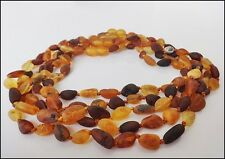 Lot of 5 Beautiful Raw 100% Natural Baltic Amber Baby Necklaces