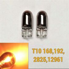 License Plate Light T10 168 194 2825 Silver Chrome Amber Bulb K1 For Cadillac A(Fits: Neon)