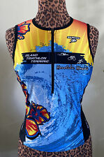Women Honolulu Hawaii Triathlon Training Jersey L XL Half Zip Sleeveless Pockets