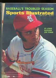 JOE TORRE ST LOUIS CARDINALS SPORTS ILLUSTRATED signed autographed