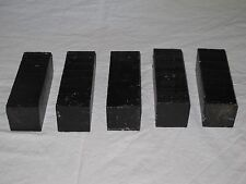 GABON EBONY TURNING BLANKS 2x2x6- 5PCS W/FREE SHIPPING-EXOTIC WOOD