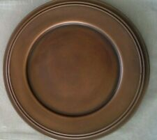 POTTERY BARN 8 Rustic Copper Charger Plates Harvest Table Thanksgiving Decor