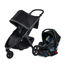 Britax B-Free Stroller & B-Safe Ultra Car Seat Travel System Pewter New!!