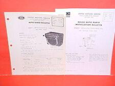 1946 1947 CADILLAC 61 62 FLEETWOOD UNITED MOTORS DELCO GM RADIO SERVICE MANUAL