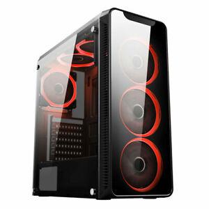 Fast Gaming PC Computer Bundle Quad Core i5 16GB 240GB SDD Win 10 2GB GT710 6FAN