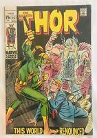 THOR #167 (1969) Marvel Key Issue Silver Age Comic Loki App Jack Kirby