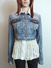 OLD STORY Girl Ladies Vtg Casual Rock Cotton Denim Jeans Crop Jacket sz 12 AM67