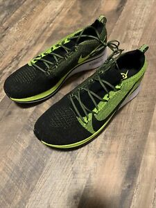 Nike Zoom Fly Flyknit Running Shoes Black Volt Men's BV6103-002 Size 10.5 New