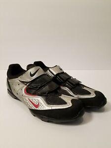 Women's Nike Cycling Shoes Chrome/Black Size 9.5 Alpin II