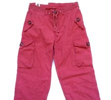 New Ralph Lauren Polo 100% Cotton Faded Red Cargo Pants sz M