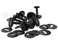 20 Pieces Black Floor Carpet Mat Clips Twist Lock with Washers For BMW E39 E46
