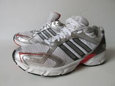 Adidas White Silver Synthetic Mesh Running  Shoes G03239 Men's 9.5M