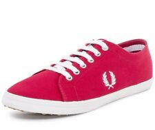 Fred Perry Kingston Twill Plimsolls Trainers Pumps Casual Shoes B6259-696/BLOOD