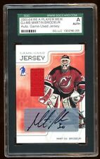 MARTIN BRODEUR 2003-04 BE A PLAYER AUTO JERSEY SP /10 AUTOGRAPH  FUTURE HOF RARE