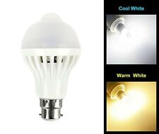 5W PIR Motion Sensor LED Light Bulb Infrared Energy Saving Auto B22 E27 Detector