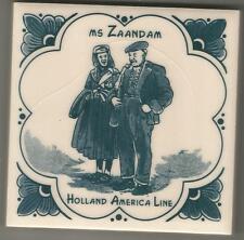 Holland America LIne  Blue Delft Tile...Vintage..ms Zaandam