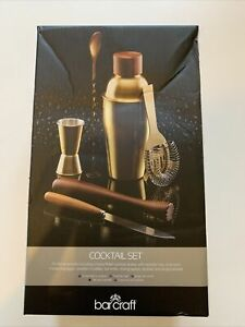 Barcraft Brass And Wood Cocktail Making Set BNWT!