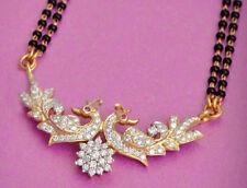 1.80ctw DIAMOND 14K YELLOW GOLD RUBY  WEDDING ANNIVERSARY PEACOCK  MANGALSUTRA