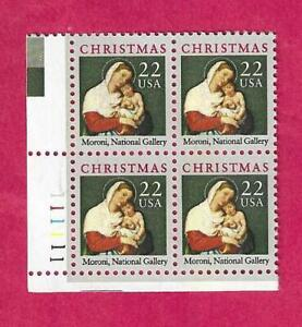 SCOTT 2367 22 CENT 1987 MADONNA PLATE BLOCK - $1.85 AND FREE SHIPPING