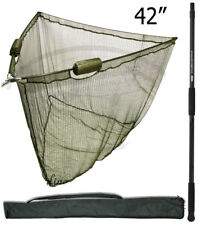 "NEW 42"" LANDING NET DUAL FLOAT+ 2M HANDLE + STINK BAG CARP FISHING NGT TACKLE"