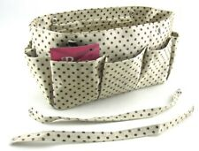 Periea Handbag Organiser Cream & Brown Spot Tidy Organizer Purse Insert Neat Bag