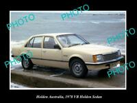 LARGE HISTORIC PHOTO OF GM HOLDEN, 1978 VB HOLDEN COMMODORE SEDAN PRESS PHOTO