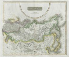 """Russian Empire"". Russia in Asia & Europe. Siberia. THOMSON 1830 old map"