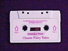 HOMESTAR GRANDPA TIME CLOCK AUDIO CASSETTE TAPE TITLED CLASSIC FAIRY TALES WORKS