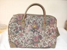 Vintage Diane Von Furstenberg Floral Overnight Weekend Tote Bag Luggage NEW !