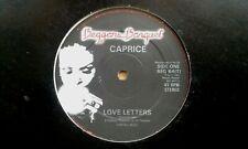 "CAPRICE ""LOVE LETTERS"" 12"" PROMO SINGLE 1981 N/MINT"