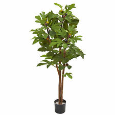 """46"""" Fig Artificial Silk Tree Realistic Nearly Natural Home Garden Decoration"""