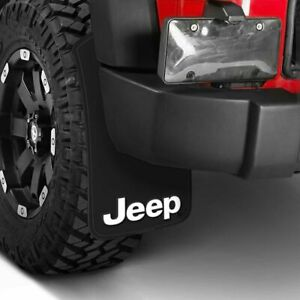 "(4) 11"" x 19"" Mud Flaps JEEP FACTORY LOGO Splash Guards Front & Rear Mud Guards"
