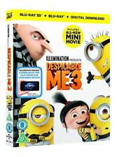 Despicable Me 3 New & Sealed 3D Blu Ray & 2D Blu Ray & Digital