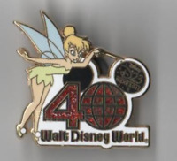 Disney Pin 86212 D23 2011 Expo Tinker Bell WDW 40th Anniversary Red 40 CHASER