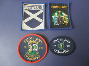 1990 BRITISH OPEN ST ANDREWS SCOTLAND LOT OF 4 PATCHES