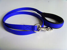 "New Perfeq, Matt Royal Blue, Loop Handled with Grip Dog Lead 46"" (1.2Mtrs) Long"