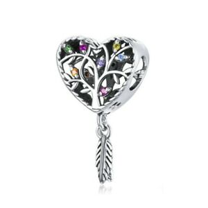 SOLID Sterling Silver Colour Tree of Life Dream Catcher Charm - YOUnique Designs