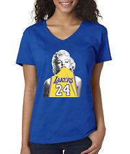 16bf095409f7 New Way 412 - Women s V-Neck Marilyn Monroe Lakers 24 Kobe Bryant Gold  Jersey