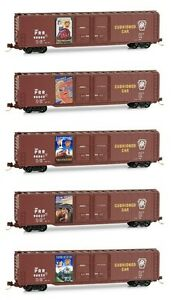 Micro Trains Line N Scale 993 21 210 Pennsylvania 60' Double Door Box Cars 5 Pk