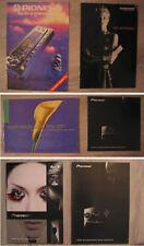 Pioneer - 34 Stück Hifi Prospekte Kataloge - RAR - Urushi - Brochure Catalogue